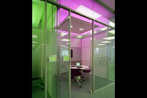 Green light: coloured lighting in BP meeting rooms signals their status and has increased occupancy rates